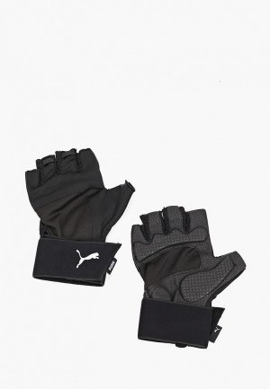 Перчатки для фитнеса PUMA TR Ess Gloves Premium. Цвет: черный