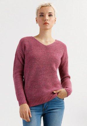 Пуловер Finn Flare. Цвет: розовый