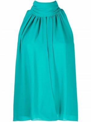 Блузка с вырезом халтер и сборками CAMILLA AND MARC. Цвет: синий
