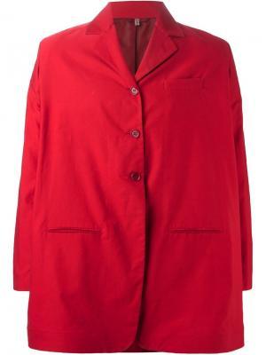 Объёмный пиджак Romeo Gigli Vintage. Цвет: красный