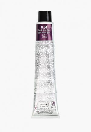Краска для волос KayPro 6.34 CAVIAR SUPREME ТЕМНЫЙ ЗОЛОТИСТО-МЕДНЫЙ БЛОНДИН, 100 мл. Цвет: прозрачный