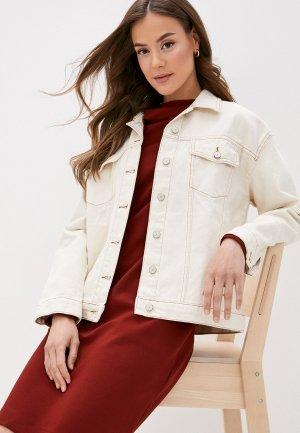 Куртка джинсовая Trendyol. Цвет: бежевый