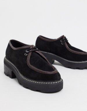 Туфли из премиум-кожи на массивной подошве ASOS DESIGN-Многоцветный