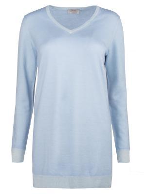 Шерстяной пуловер Gran Sasso. Цвет: голубой