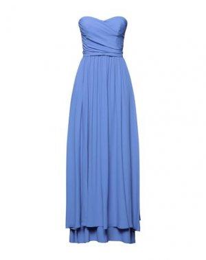 Длинное платье 1-ONE. Цвет: фиолетовый