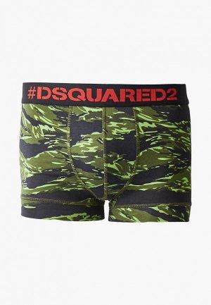 Трусы Dsquared Underwear. Цвет: зеленый