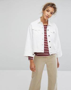 Свободная джинсовая куртка оверсайз Pauline Wood. Цвет: белый