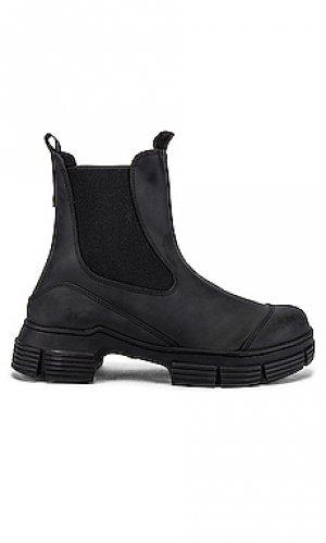 Ботинки челси city Ganni. Цвет: черный