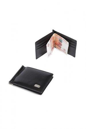 Зажим для денег Fabretti. Цвет: черный