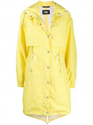 Непромокаемый анорак с логотипом Karl Lagerfeld. Цвет: желтый