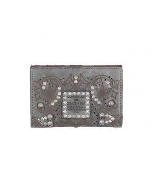 Бумажник CAMPOMAGGI. Цвет: серый