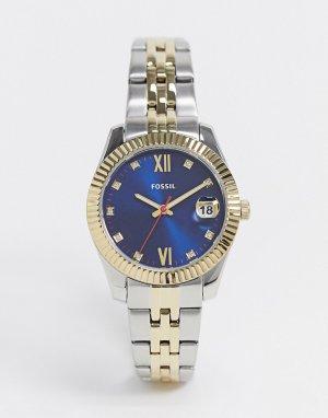 Часы с темно-синим циферблатом и двухцветным металлическим браслетом ES4899-Мульти Fossil