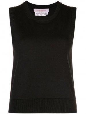Трикотажный топ без рукавов Carolina Herrera. Цвет: черный