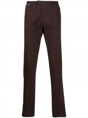 Классические брюки чинос кроя слим Eleventy. Цвет: фиолетовый