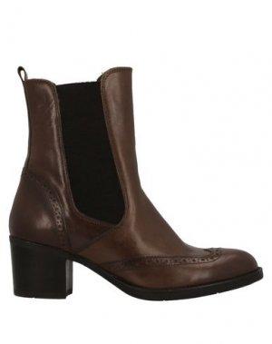 Полусапоги и высокие ботинки MFW COLLECTION. Цвет: темно-коричневый