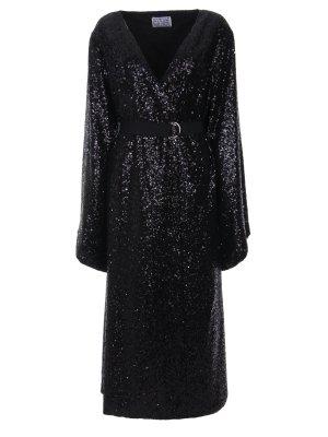 Платье с пайетками Alina German. Цвет: черный
