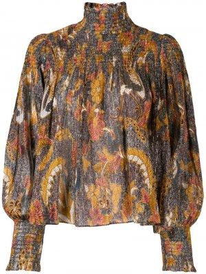 Блузка с узором пейсли Ulla Johnson. Цвет: коричневый