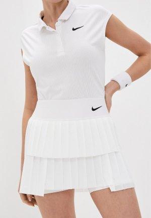 Юбка-шорты Nike W NKCT DF ADVTG SKIRT PLEATED. Цвет: белый