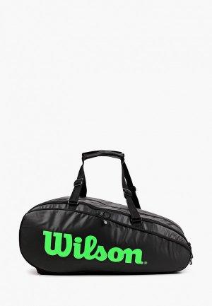 Сумка для теннисных ракеток Wilson TOUR 3 COMP. Цвет: черный