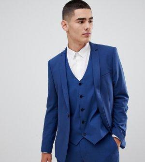 Синий приталенный пиджак -Голубой Noak