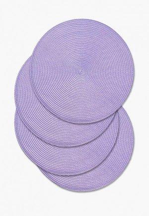 Комплект салфеток сервировочных DeNastia. Цвет: фиолетовый