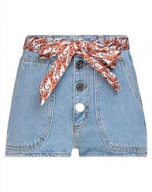 Джинсовые шорты SANDRO. Цвет: синий