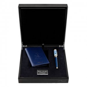 Подарочный набор: ручка и обложка для паспорта S.T. Dupont. Цвет: бесцветный