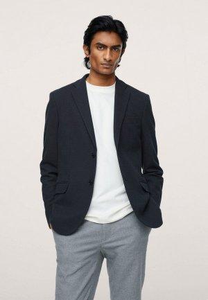 Пиджак Mango Man VERNER. Цвет: синий