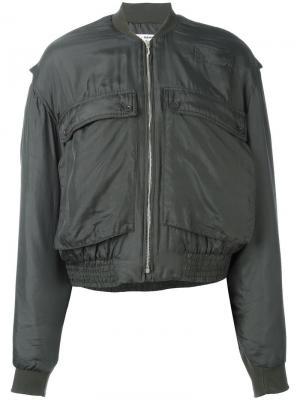 Куртка бомбер с накладными карманами Katharine Hamnett. Цвет: зелёный