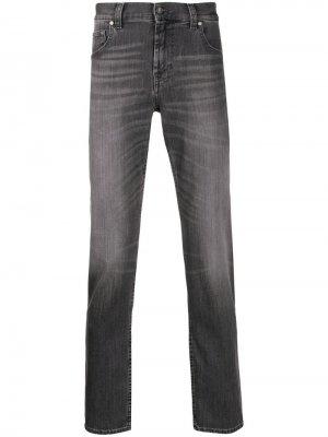 Зауженные джинсы с эффектом потертости 7 For All Mankind