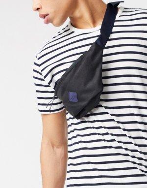 Черная сумка-кошелек из переработанного полиэстера с фирменным ремешком Jack & Jone-Черный Jones