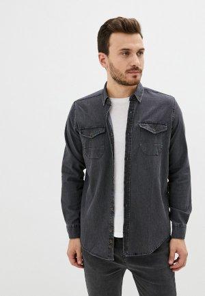 Рубашка джинсовая Trendyol. Цвет: серый