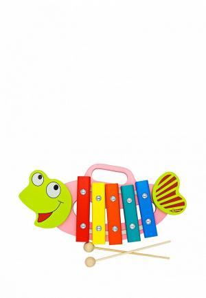 Игрушка Alatoys Ксилофон Рыбка. Цвет: разноцветный
