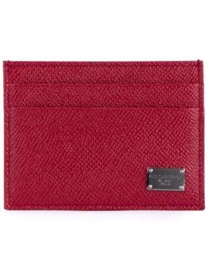 Визитница Dauphine Dolce & Gabbana. Цвет: красный