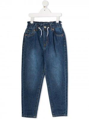 Levis Kids джинсы прямого кроя с кулиской Levi's. Цвет: синий