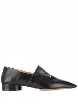 Pointed-toe loafers Maison Margiela. Цвет: черный