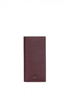 Бумажник с логотипом Dolce & Gabbana. Цвет: красный