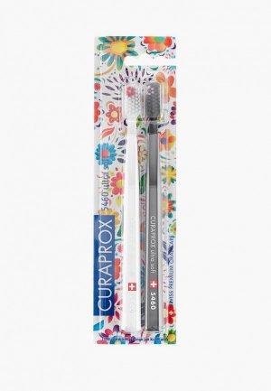 Комплект зубных щеток Curaprox ultrasoft, d 0,10 мм (2 шт.) CS Duo Hawaii 5. Цвет: разноцветный
