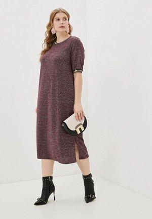 Платье Wisell. Цвет: бордовый