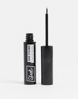 Стойкая жидкая подводка для глаз MakeUP – 48HR Liquid Liner (черный)-Черный цвет Sleek