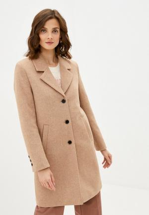 Пальто Selected Femme. Цвет: бежевый