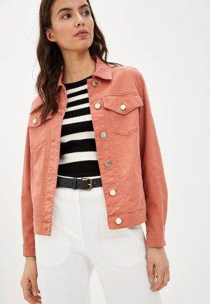 Куртка джинсовая Pennyblack. Цвет: коралловый