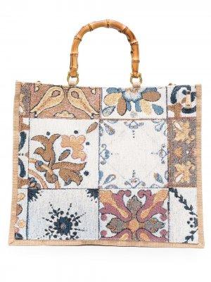 Большая сумка-тоут Asia la milanesa. Цвет: нейтральные цвета