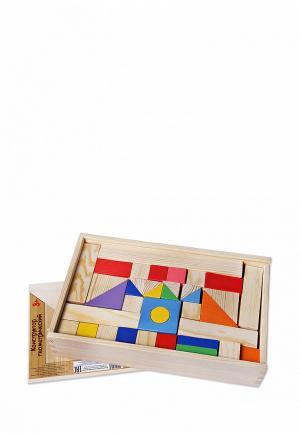 Конструктор Paremo Деревянный. Окрашенный. 85 деталей. В деревянном ящике.. Цвет: разноцветный