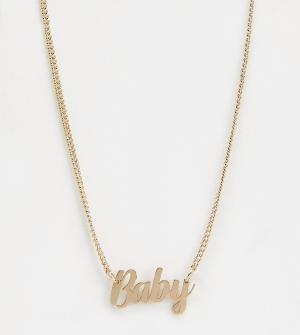 Эксклюзивное золотистое ожерелье с подвеской в виде надписи baby -Золотой Liars & Lovers