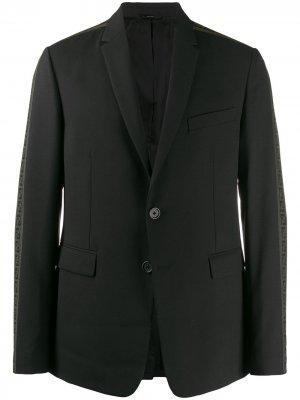 Блейзер с логотипом FF Fendi. Цвет: черный