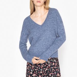 Пуловер с V-образным вырезом из тонкого трикотажа GAIANE HARRIS WILSON. Цвет: синий