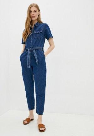Комбинезон джинсовый Sela. Цвет: синий