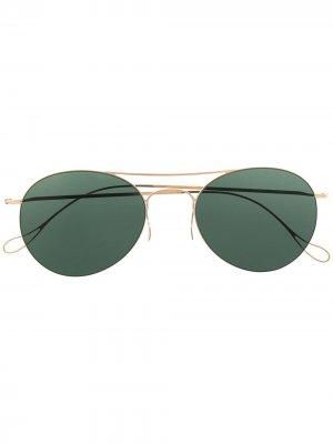 Солнцезащитные очки-авиаторы Fawcett Haffmans & Neumeister. Цвет: золотистый