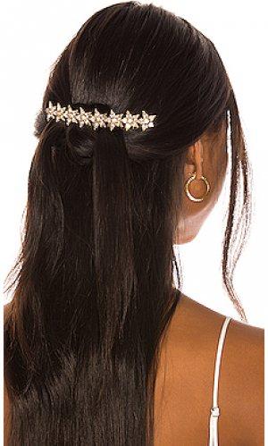 Гребень для волос meryl Elizabeth Cole. Цвет: металлический золотой